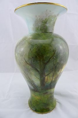 Royal Worcester Large Hand-Painted Signed Vase
