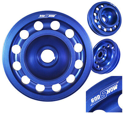Light Weight Replacement Blue Aluminum Crank Shaft Pulley For D-Series Sohc Engines