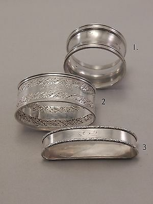(3) Assorted STUNNING Sterling Silver Napkin Rings 2405