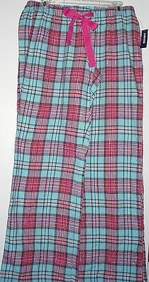 Nwt Womens Old Navy Maternity Blue Pink Plaid Flannel Lounge Pajama Pants Xs S