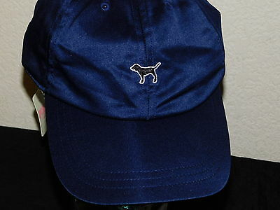 New Women's Victoria's Secret PINK Baseball Hat - Blue