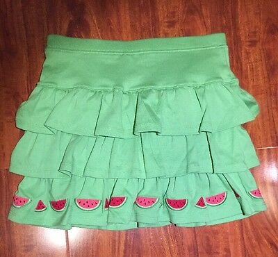 Gymboree Girls Green Tiered Skirt Skort from Watermelon Picnic Size 9 NWT