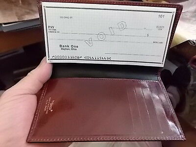 BOSCA CHECKBOOK HOLDER Brown Leather - Made in USA, NEW IN BOX