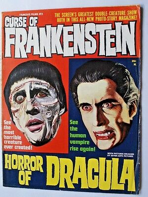 CURSE OF FRANKENSTEIN & HORROR OF DRACULA - Warren Horror Magazine - Ca. 1964