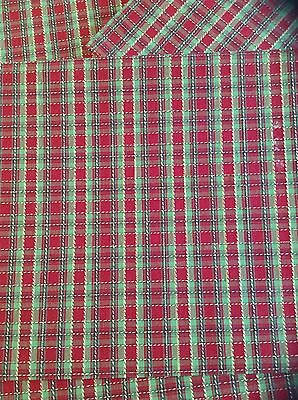 Longaberger Holiday Plaid Christmas Trimming Placemats  - Lot of 8