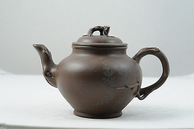 Chinese yixing zisha purple clay teapot 1980-1990s Pine style Factory #1 by 杨小君