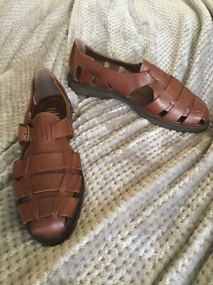 Paulo Navarro Men's Brown Sandal Loafers. Size 10M
