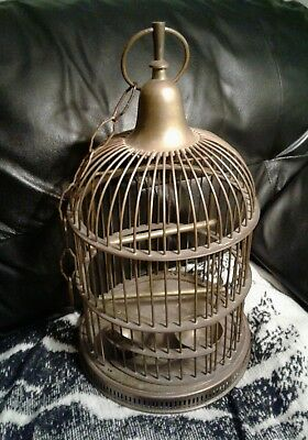 Antique Vintage Solid Brass Birdcage
