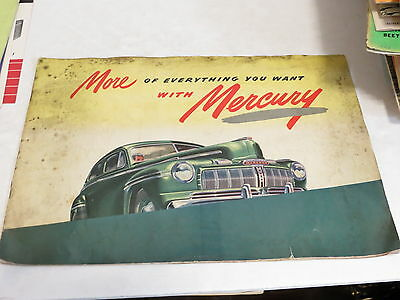 * Vintage More Of Everything You Want With Mercury Automobile Brochure *
