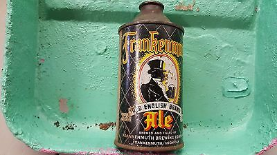 Frankenmuth old English brand Ale decent IRTP cone top beer can Michigan display
