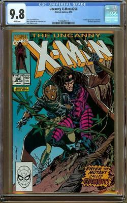 Uncanny X-men #266 CGC 9.8 White Pages - 1st Appearance of Gambit