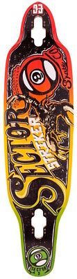 Sector 9 Longboard Skateboard Deck - Striker Rasta 36.5""