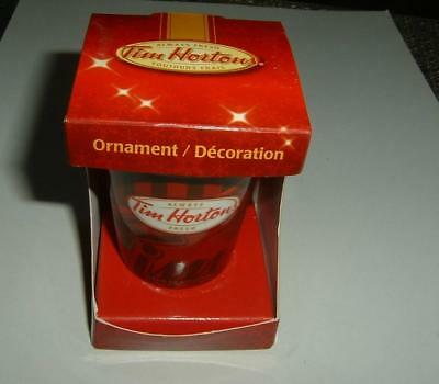 Tim Hortons 2009 Christmas Ornament Take Out Mug New In Box