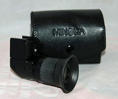 Vintage Minolta Right Angle 90 Degree 1X 2X Rotating Viewer With Original Case