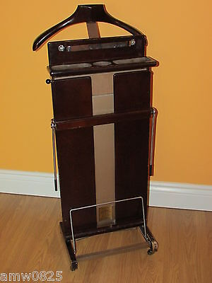 Solid Wood Valet Corby Stretcher Press Mid Century Vintage Clothes Organizer