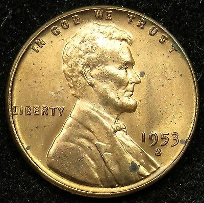 1953 S Uncirculated Lincoln Wheat Cent
