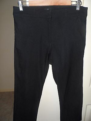 Sporte Leisure 3/4 Black Stretchy Golf Pants- Suit Size 10 To 12