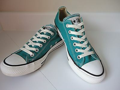 Men's 5/women's 7 Converse All Star Teal/turquoise Canvas Low