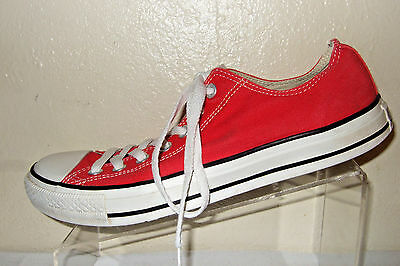 CONVERSE All Star Red Canvas Sneaker/Shoes Men's Size 9.5 Women's Size 11.5