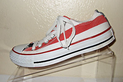 CONVERSE All Star American Flag Red/White/Blue Canvas Shoes Women's Size 6.5