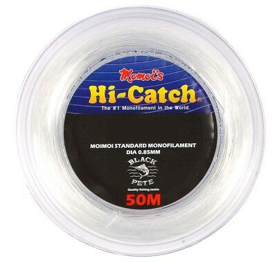Momoi Hi-Catch 50m Clear Monofilament Leader 150 to 500lb