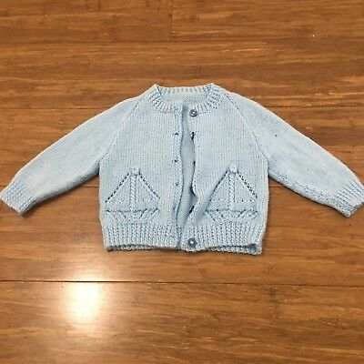 Baby Newborn Blue Knitted Cardigan
