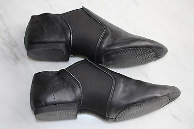 Leather Jazz Dance Shoes Black Split Sole Free Shipping