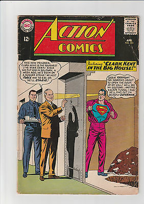 Action Comics #323  G+  DC comic 1965 Kent in the Big House