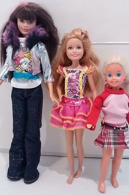 Barbie Sister Skipper Stacie Lot of 3 Pre-Teen Dolls Clothing