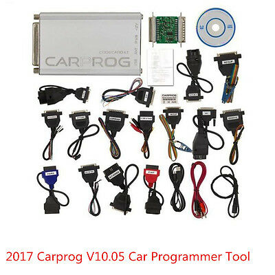 New 2017 Carprog V10.05 Full Version With 21 Items Adapter Car Programmer Tool