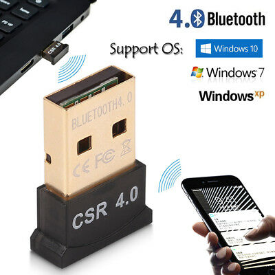 Bluetooth 4.0 USB 2.0 CSR4.0 Dongle Adapter for PC LAPTOP WINDOWS XP VISTA7 8 10