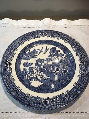 Churchill Willow patterned plate