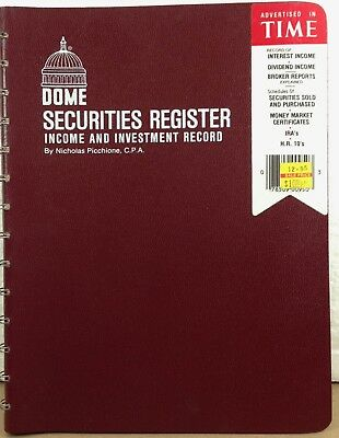 Dome Securities Register Income & Investment Record Book  # 950 NOS