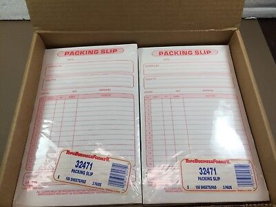 NOS Tops Business Forms Packing Slips Full Box 1200 Sheets
