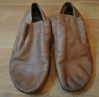 Capezio Girls Nude Leather Upper Jazz Shoes Size 1.5