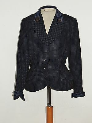 1940's WW2 Doop's Era Black / Blue Wool Jacket SM