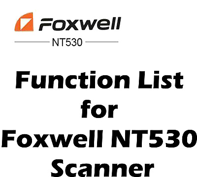 Function List for GM Foxwell NT530 OBD2 Diagnostic Scanner