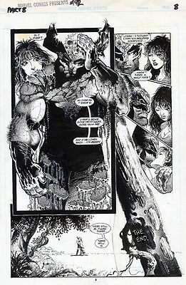 PRIMO:  Sam KIETH original art WOLVERINE Marvel Comics Presents MCP 92 p8 Keith