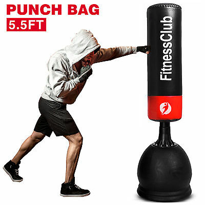 5.5Ft Free Standing Boxing Punch Bag Kick Heavy Duty MMA Martial Art Training