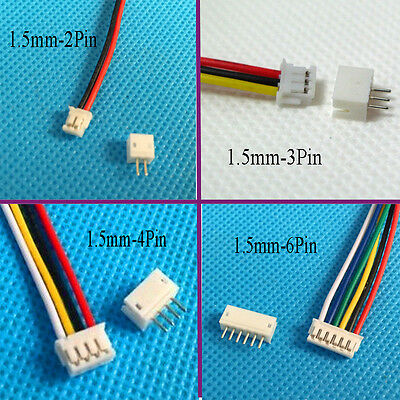 20 x Mini Micro JST ZH 1.5mm 2Pin 3P 4P 5Pin JST Connector Plug with Wire