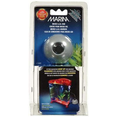 Marina LED Micro 3 Way Hub Powers 3 LED Light Units for Aquarium