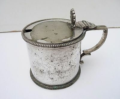 Old Elkington & Co Silver Plated Mustard Pot from 1910