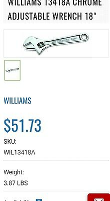 """18"""" WILLIAMS Crescent wrench"""