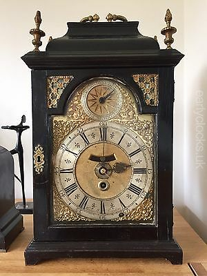 Rare 'Thomas Windmills - London' Ebony Bracket / Table Clock C.1715