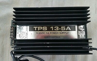 13.8 Volt 5 Amp TACTICAL TECHNOLOGIES POWER SUPPLY for ALARMS, LOCKS, or CAMERAS