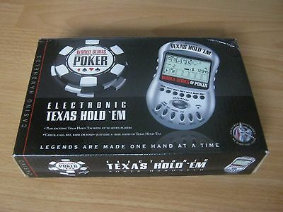 Electronic Texas Hold 'Em Hand Held Game