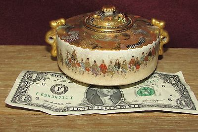 Antique Japanese Satsuma Ceramic Koro Signed Exceptional Quality