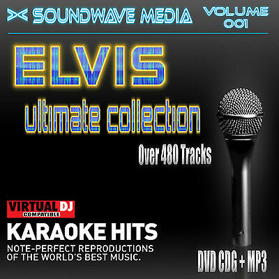Elvis - The Ultimate Karaoke Collection Dvd (Cdg + Mp3) >Home Made<