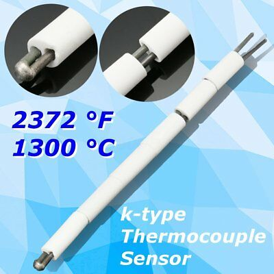 "8.5"" High Temperature K-Type Thermocouple Sensor for Ceramic Kiln AWG 8 1300 °C"
