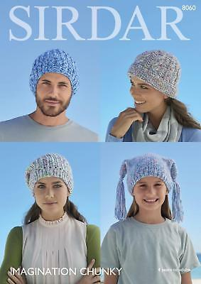 9cd6b56b301 Sirdar 8060 Knitting Pattern Family Accessories Hats in Sirdar Imagination  Chunk